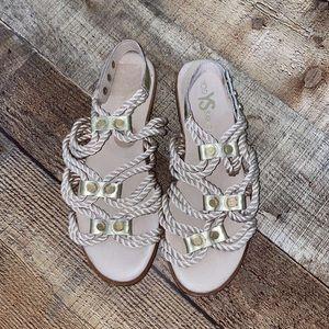 Yosi Samra Metallic Marina Rope Gladiator Sandals